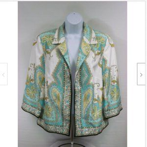 Tanjay Womens Cropped Jacket Size 10 Paisley